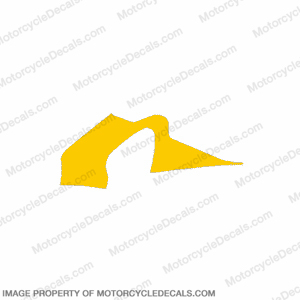 F4 Right Mid to Upper Fairing Decal (Yellow)