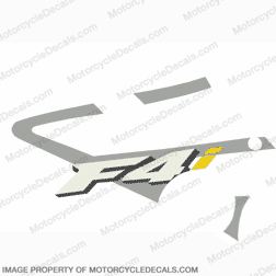 "F4i Left Mid Fairing Decal (Silver/Yellow ""i"")"