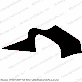 F4i Left Mid to Upper Fairing Decal (Black)