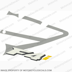 "F4i Right Mid Fairing Decal (Silver/Yellow ""i"")"
