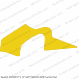 F4i Right Mid to Upper Fairing Decal (Yellow)