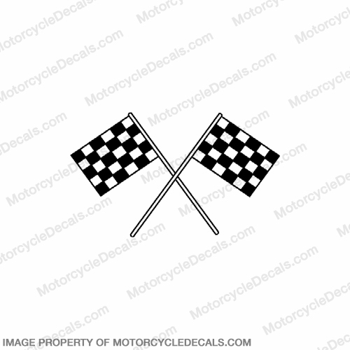 Flag Decal - Checkerd 6""