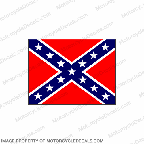 Flag Decal - Confederate 6""