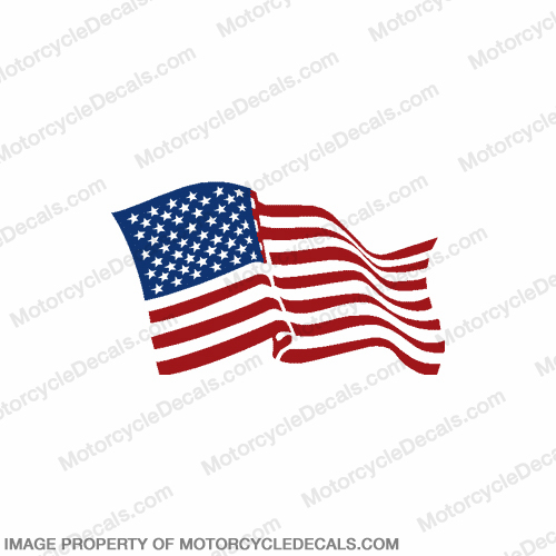 Flag Decal - American (Wavy) 6""
