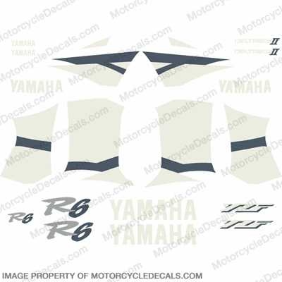 2002 Yamaha R6 Full Replica Decal Kit - Blue