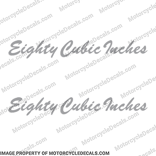 "Harley-Davidson ""Eighty Cubic Inches"" Decal (Set of 2) harley, harley davidson, harleydavidson, 80, cb"