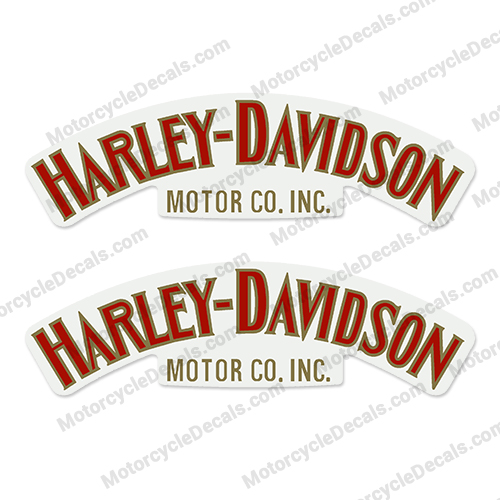 Harley-Davidson Fuel Tank Decals (Set of 2) - Style 1 - Any Color - HAR-F-TNK-S1