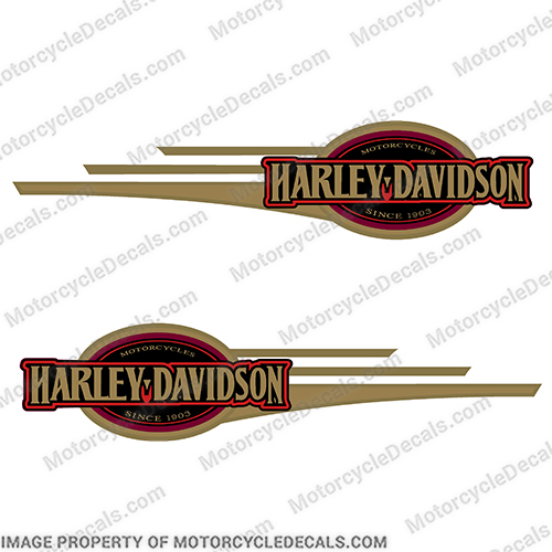 Harley-Davidson Heritage Softail Decals 2006 and up (Set of 2)  GOLD Harley, Davidson, Harley Davidson, soft, tail, 2005, 2006, 2007, 2008, softail, soft-tail, harley-davidson, softtail
