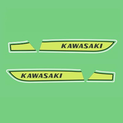 Kawasaki S3A 400 Decal Kit - 1975