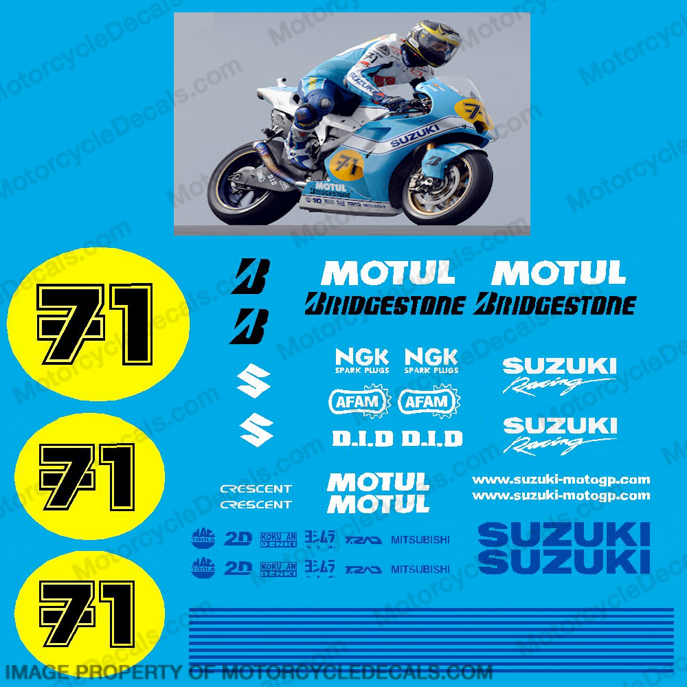 Suzuki GSXR Vermeulen/Sheen Replica Decal Kit