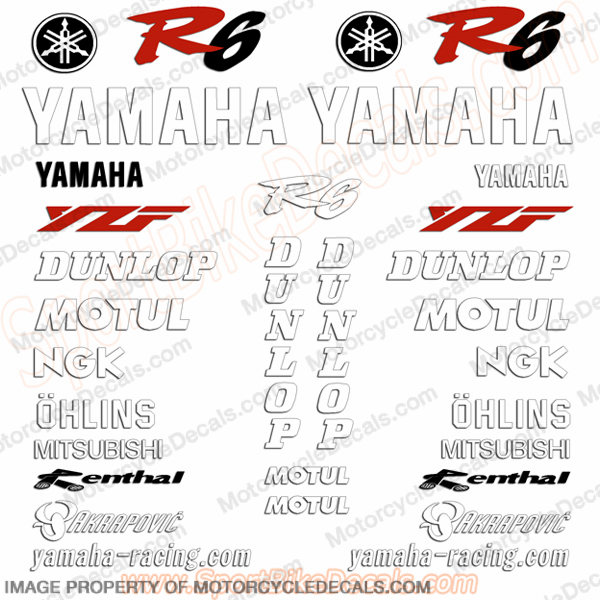 Yamaha R6 Haga SBK Race Replica Decal Kit - 2000