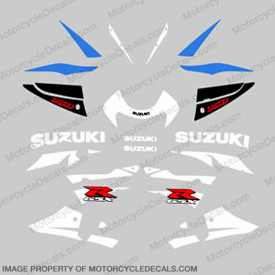 Suzuki GSX-R 750 Full Decal Kit - 2001