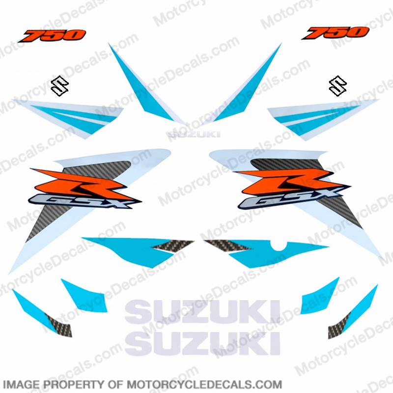 Suzuki GSX-R 750 Full Decals (Blue) - 2006