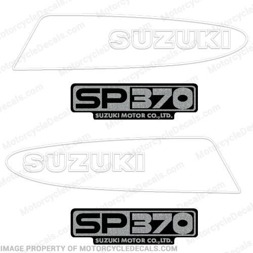 Suzuki SP370 Motorcycle Decals - 1980s