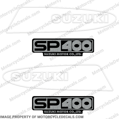 Suzuki SP400 Motorcycle Decals - 1980s