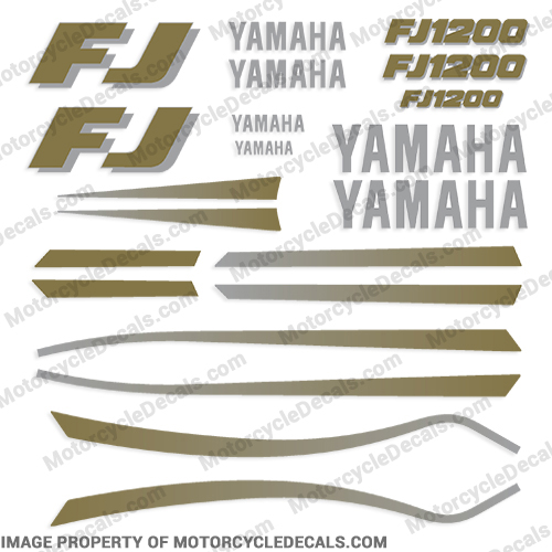 1989-1990 Yamaha FJ1200 Motorcycle Decals