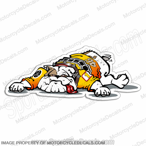 Valentino Rossi Race Bike Bulldog Decal